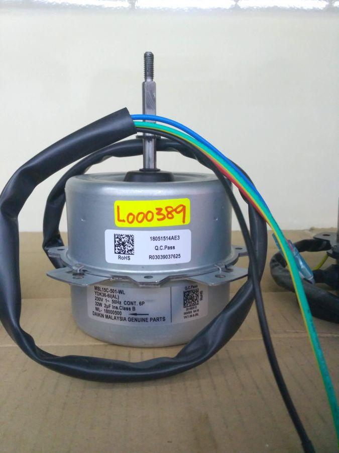 L000389 * FAN MOTOR MSL15C-501-BOM 30W (2UF/440V)