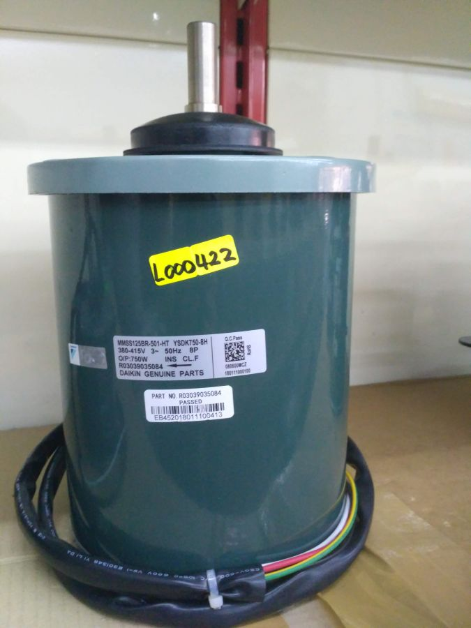 L000422* HAT081 MOTOR HEADLINE replace by MMSS125BR-501, 750W 415V/3PPH/50HZ