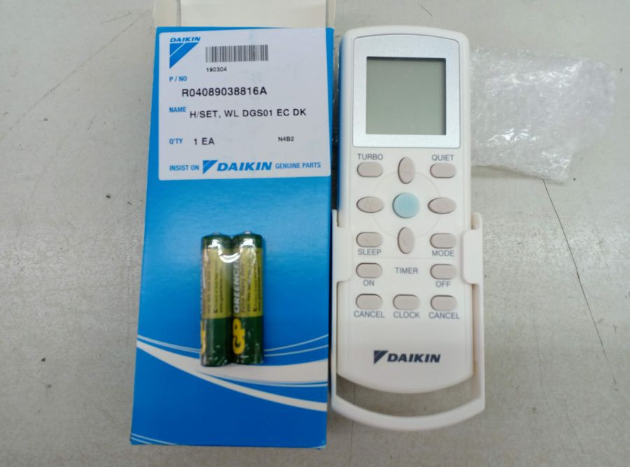 L004399 * H/SET, Wireless Remote Controller DGS01 -DAIKIN
